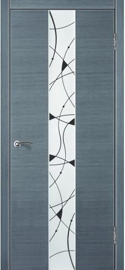 Дверь из шпона Лайн 9 «Зодчий», серый дуб
