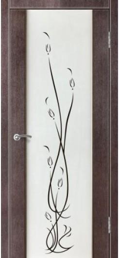 Дверь ПВХ Лилия «Зодчий», венге