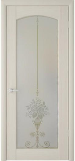 Дверь ПВХ Фрегат «Верона Букет», беленый дуб