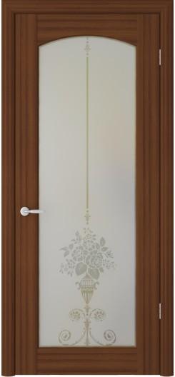 Дверь ПВХ Фрегат «Верона Букет», орех таволато