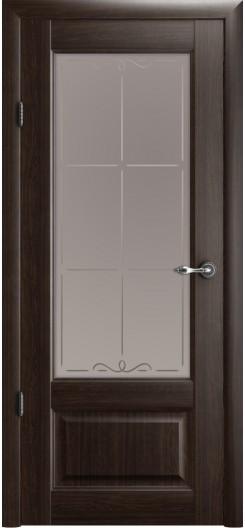 Царговая дверь Albero «Эрмитаж-1», орех, остекленная