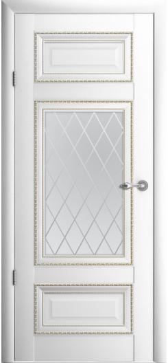 Царговая дверь Albero «Версаль-2», белая, остекленная