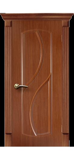 Дверь ПВХ «Фаина». Темный дуб.