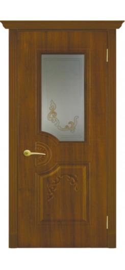 Дверь ПВХ «Флоренция». Орех.