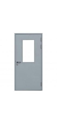 Противопожарная дверь одностворчатая, остекленная