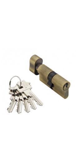 Цилиндр(личинка) CYL 5-60 KEY бронза для дверного замка