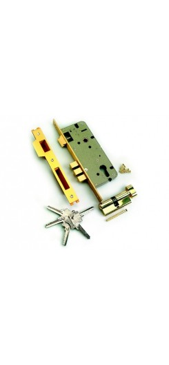 Дверной замок L01-45-70 B латунь: ключ-ключ
