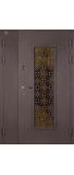 Двустворчатая металлическая дверь ИЗУМРУД 22
