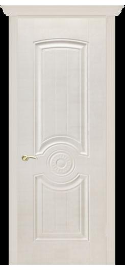 Дверь ПВХ «Венеция». Белый сатин.