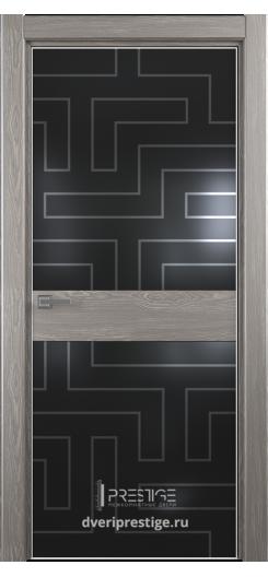 """Межкомнатная дверь """"Престиж"""" — Модель Ultra 18 рисунок Лабиринт"""